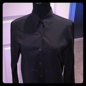 Black light cotton button up dress shirt. SZ 10P.
